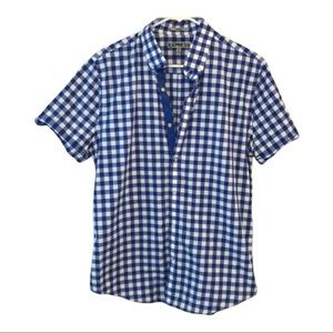 Blue & white Checkered Express men's button up